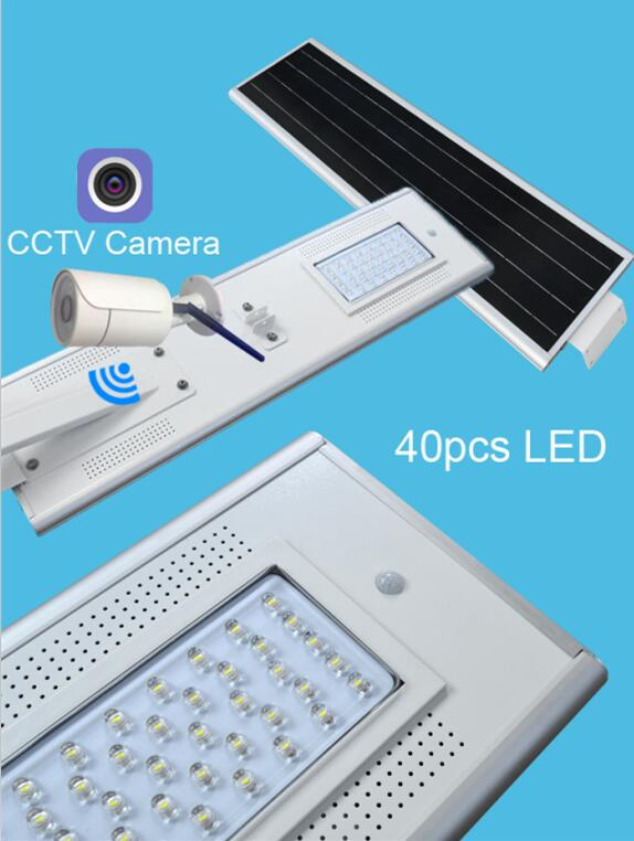 40W All in One Solar Street Lighting With CCTV Sunergyplus