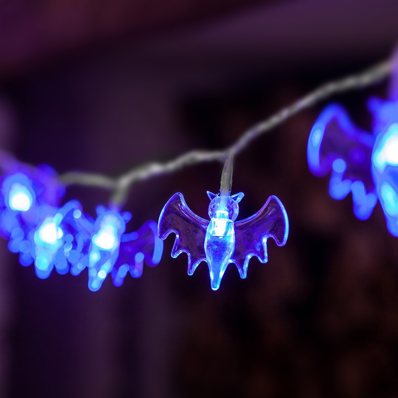 Solar Holiday Bat Decoration Light