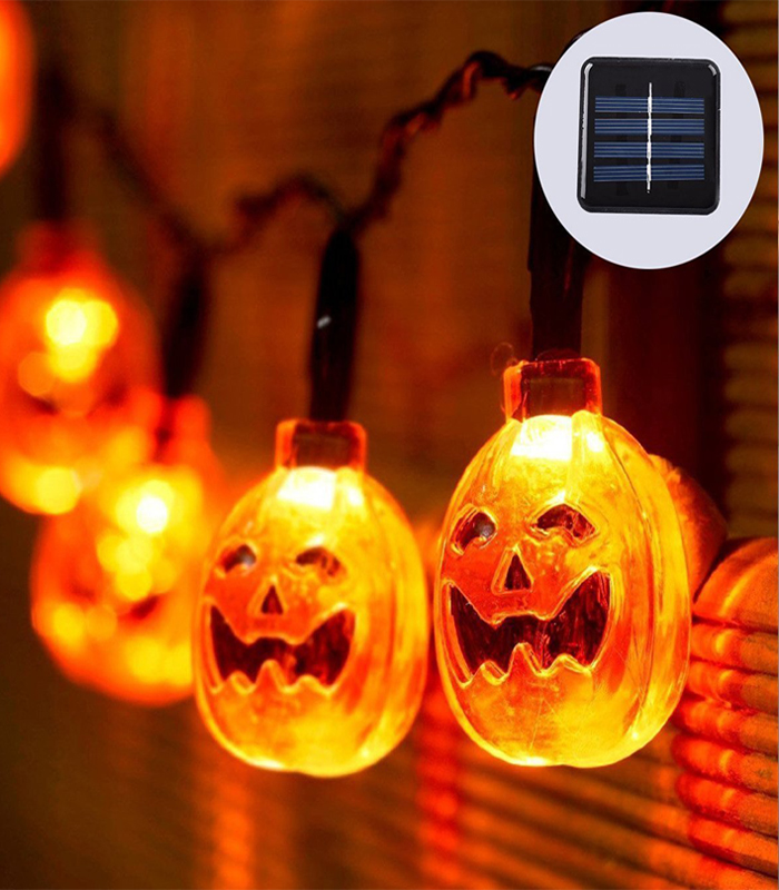 Halloween LED Lighting Solar Pumpkin Decoration Light