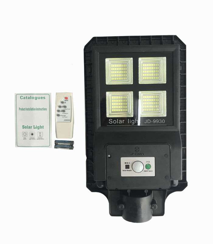 JD-9930 Remote Control All in One Solar Street Light 180PCS LED