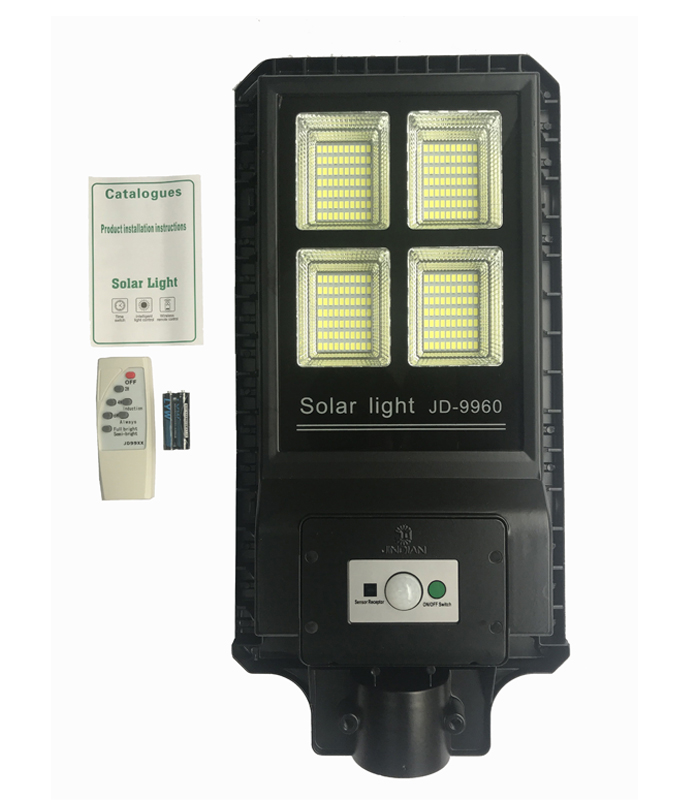 JD-9960 Remote Control All in One Solar Street Light 280PCS LED